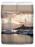 Kyleakin Harbor And Castle Moil Duvet Cover