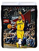 Kyrie Irving Duvet Cover by Florian Rodarte