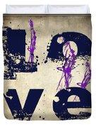 L O V E Crumbling Duvet Cover