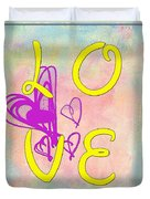 L O V E Disney Style Duvet Cover