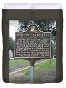 La-007 Town Of Carrollton Duvet Cover