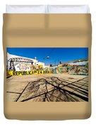 La Boca Graffiti Duvet Cover