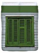 La Boca Shutter Green Duvet Cover