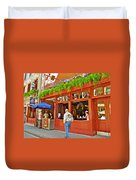 La Cage Aux Sports In Old Montreal-quebec Duvet Cover