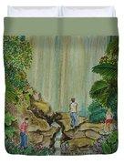 La Coco Falls El Yunque Rain Forest Puerto Rico Duvet Cover