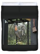 La Decoration Sur La Cage De Poulet Duvet Cover
