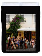 La Dolce Vita At A Cafe In Italy Duvet Cover