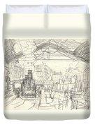 La Gare Saint Lazare Duvet Cover by Claude Monet