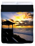 La Jolla At Sunset By Diana Sainz Duvet Cover by Diana Sainz