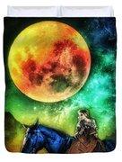 La Luna Duvet Cover by Mo T
