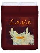 La Marguerite - Love Red Wine  Duvet Cover