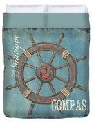 La Mer Compas Duvet Cover by Debbie DeWitt