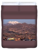 La Paz Skyline At Sundown Duvet Cover