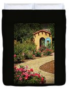 La Posada Gardens In Winslow Arizona Duvet Cover by Priscilla Burgers