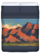 La Quinta Mountains Morning Duvet Cover