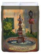 La Quinta Resort Fountain Duvet Cover