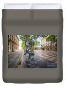 La Rambla Fountain  Duvet Cover