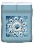 La Ronde Des Marguerites - Blue V02 Duvet Cover by Variance Collections