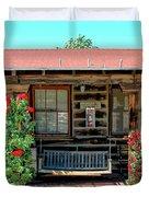 La Rosa Motel Pioneer Town Duvet Cover