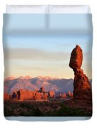 La Sal Mountains From Balanced Rock Duvet Cover