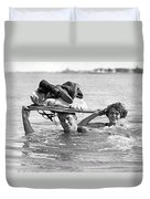 La Snow To Surf Race Duvet Cover
