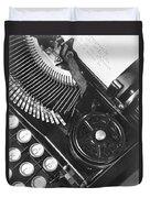La Tecnica - The Typewriter Of Julio Duvet Cover