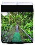 La Tirimbina Suspension Bridge Duvet Cover