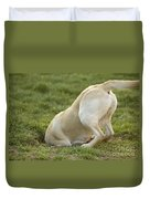 Labrador In Hole Duvet Cover