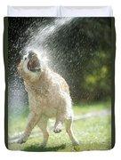 Labrador Retriever And Hose Duvet Cover