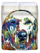 Labrador Retriever Art - Play With Me - By Sharon Cummings Duvet Cover