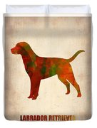 Labrador Retriever Poster Duvet Cover by Naxart Studio