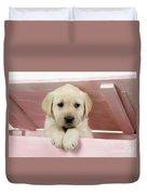Labrador Retriever Puppy Duvet Cover