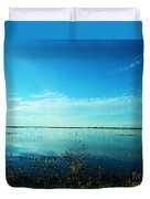 Lacassine Nwr Pool Blue And Green Duvet Cover