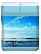 Lacassine Pool Louisiana Afternoon Duvet Cover