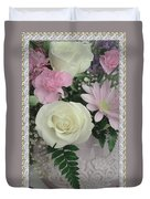 Lace Framed Mothers Day Duvet Cover