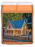 Lace House Blackhawk  Colorado Duvet Cover