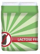 Lactose Free Banner Duvet Cover