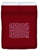Lacy Orchid Kaleidoscope Duvet Cover