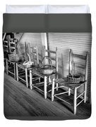 Ladder Back Chairs And Baskets Duvet Cover by Lynn Palmer