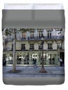 Laduree On The Champs De Elysees In Paris France  Duvet Cover