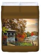 Ladies Pavilion In Autumn Duvet Cover
