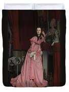 Lady At The Fireplace   Duvet Cover