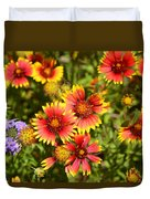 Lady Bird And Her Flowers Duvet Cover