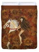 Lady Godiva Rides For Love Duvet Cover