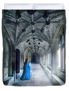 Lady In A Corridor Duvet Cover