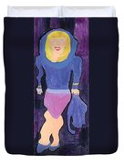 Lady In Blue Duvet Cover by Don Larison