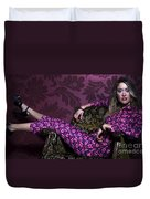 Lady In Pink... Duvet Cover