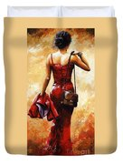 Lady In Red #25 Duvet Cover