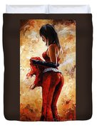 Lady In Red 26 Duvet Cover