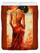 Lady In Red 27re Large  Duvet Cover